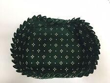 """Longaberger Oval Basket Liner Green 6"""" x 5.5"""""""