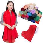 Women Candy Colors Long Soft Cotton Chiffon Scarf Wrap Shawl Pashmina