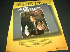 ALL THE RIGHT MOVES release of the soundtrack Original Vintage PROMO POSTER AD