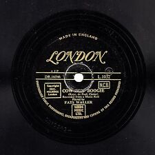 GOLD LONDON 78 FATS WALLER COW COW BOOGIE/ TEDDY WEATHERFORD SUGAR FOOT STOMP E+