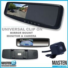 -4.3 LCD Rearview Mirror Monitor 2 Inputs Universal Clip OnStyle w/ Camera Clip