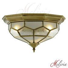 Deckenlampe Ø29 Messing Gold Glas Deckenleuchte Hängelampe Pendelleuchte Flur