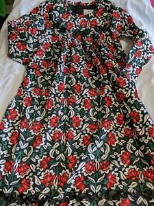 Hanna Andersson Girls Sz. 130 Black, Red & Green Holiday Dress. Beautiful