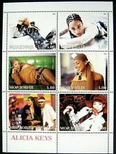 Alicia Keys Stamps Sheet Mordovia Music Musician The Voice Coach