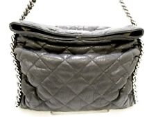 Auth CHANEL Chain Around A49892 Black Vintage Leather Shoulder Bag