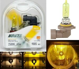 Nokya 2500K Yellow 9005 HB3 Nok7611 65W Two Bulbs Head Light High Beam Stock Fit