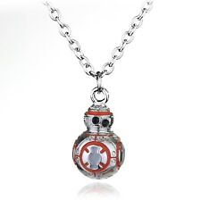 FREE GIFT BAG Silver Plated Star Wars Robot BB8 Cute Necklace Chain Xmas Jewelry