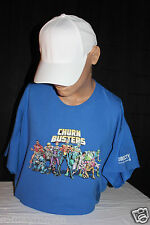 CHURN BUSTERS DIRECT TV MEN'S NEW T-SHIRT SIZE 2- XL 100% COTTON BLUE