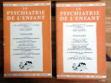 La Psychiatrie de L' Enfant - Puf - Ajuriaguerra (De), J.-  7 VOLUMES