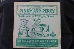 1959 PINKY & PERKY  78  DOES YOUR CHEWING GUM LOSE IT'S FLAVOUR  DECCA F 11116 E