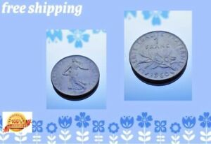1960 1 Franc Silver Coin Collectors France  FREE SHIPPING