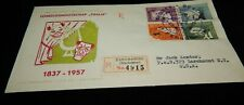 Vintage Cover,PARAMARIBO,SURINAME,FDC, REGISTERED,1958,To Larchmont,NY, The Arts