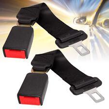 "2pcs 14"" Car Seat Belt Extention Extender SAFETY 7/8""BUCKLE Black zon"