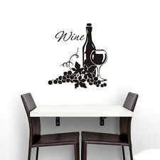 Grapes And Wine Bottle Wall Sticker Kitchen Dining Room Wall Decal Room Decor