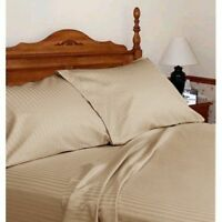 1000 Thread Count Egyptian Cotton Scala Bedding Items US Sizes Taupe Striped