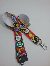 Superheroes batman superman lanyard safety clip ID badge holder student gift