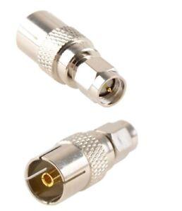 SMA male to Coax TV Socket Adaptor IEC DVB-T TV Socket x1                869