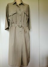 LADIES VINTAGE SAFARI DRESS SIZE 18.... 2 SIDE POCKETS.. IN Immaculate Condition