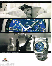 PUBLICITE ADVERTISING 085  2003  La montre femme  chrono FESTINA