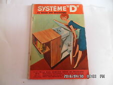SYSTEME D N°163 JUILLET 1959 MEUBLE CACHE LAVABO TABLE RABATTABLE     G64