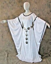Angel Gown White Medieval Wing Sleeve Dress LARP Game of Thrones Cosplay LARP