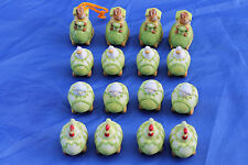Oster Deko 16 Ostereier zum Aufhängen Tiere Hühner Hase Schaf Ente bemalt