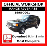 >> OFFICIAL WORKSHOP Manual Service Repair Land Rover Range Rover P38 1998-2001