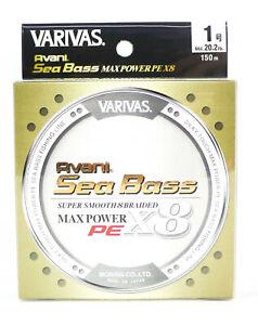 Varivas P.E Line Seabass Max Power X8 Gold 150m P.E 1 20.2lb (5790)