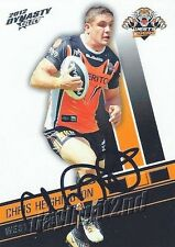 ✺Signed✺ 2012 WESTS TIGERS NRL Card CHRIS HEIGHINGTON