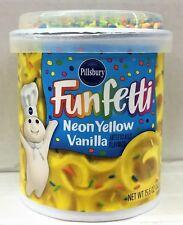 Pillsbury Funfetti Neon Yellow Vanilla Frosting 15.6 oz