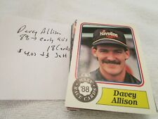 Assorted Davey Allison  Trading Cards