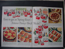 1951 Armour Meat Ham Pork Feet Beef  Tongue Chili etc Food VTG Print Ad 12364