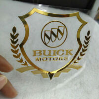 Car Side Glass Stickers Auto Fender Emblem Decals Rear Badge Buick Logo Gold