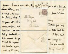 ROYALTY 1885 QUEENS BALL LETTER with OUTSTANDING DESCRIPTION from MILDMAY RHA