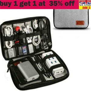 Portable Earphone Cable USB Charger Tidy Organizer Storage Bag Travel Case sr