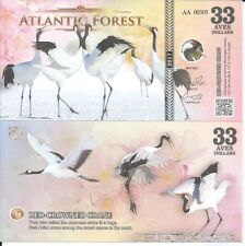 ATLANTIC FOREST BILLETE 33 AVES DOLLARS 2017