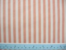 "Rose and Cream 1/4"" Stripe Cotton Fabric,  45"" BTY"