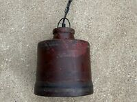 Vintage 1900s Industrial Textile Factory Hanging Light Mill Fixture Steampunk