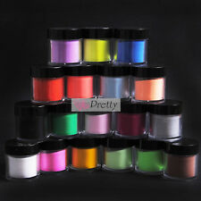 18 Jumbo Color Acrylic Powder Pro Glitter Nail Art Tool Kit UV Dust Deco Pots