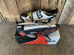SIDI T-4 Air Men's Triathlon Cycling Shoes Black/White European size 46