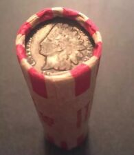 Unsearched Roll Of Wheat Pennies With Indian Heads On Both Ends Estate Sale Rare