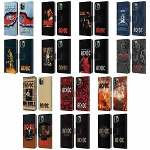 AC/DC ACDC ALBUM ART LEATHER BOOK WALLET CASE COVER FOR APPLE iPHONE PHONES