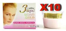 10Pcs10G.POLLA GOLD WHITENING CREAM SUPER WHITE PERFACTS FACIAL SKIN CARE CREAM