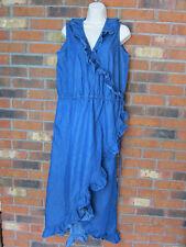 146031fbf8 Ashley Stewart Denim Color 100% Cotton Women s Dress Size 16