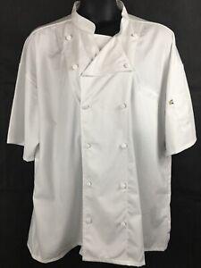 Edward Garments 12 Button Short Sleeve Chef Coat W/ Mesh Back Size 2X