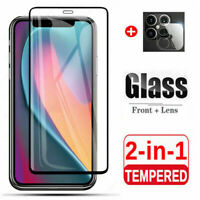 3 Pack For iPhone 12 Pro Max Tempered Glass Screen Camera Lens Protector Cover