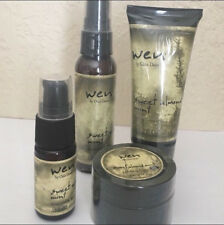 Wen Sweet Almond Mint Hair Styling Creme Replenishing Treatment Paste Serum Kit