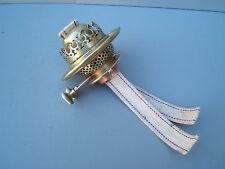 Oil lamp vintage Hinks W Bull twin bayonet burner cork gasket   ref  Hinks 3