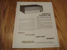Dynaco Stereo 410  amplifier ad flyer
