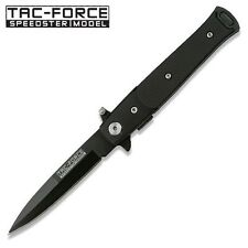 Tac-Force Black Italian Stiletto Style Spring Assist Assisted Knife #438G10